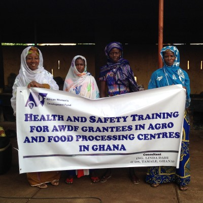 Care for the Vulnerable, Grantee from Northern Ghana takes part in AWDF's Health and Safety Training in Agro and Food Processing Centres in Tamale, April 2015
