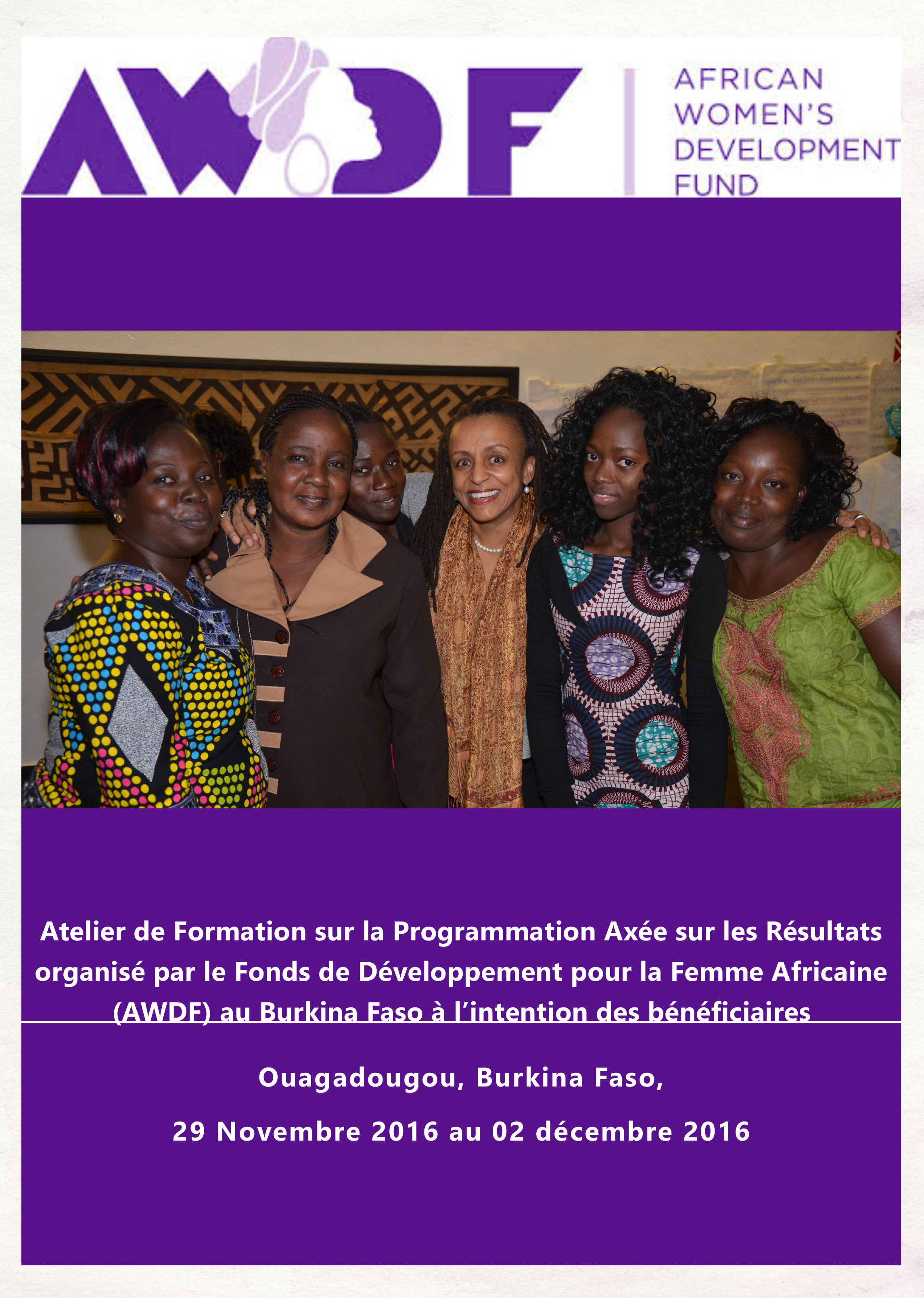 Results Based Programming Report in French -Burkina Faso Workshop (dragged)
